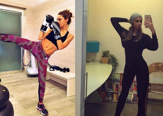 Anna Tatangelo, Belen Rodrguez: sensuali in tenuta sportiva FOTO