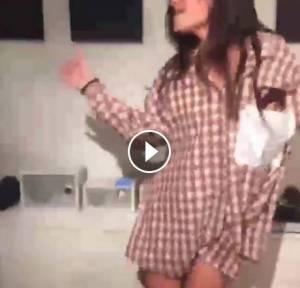 Ludovica Valli, camicia e parigine su Facebook VIDEO