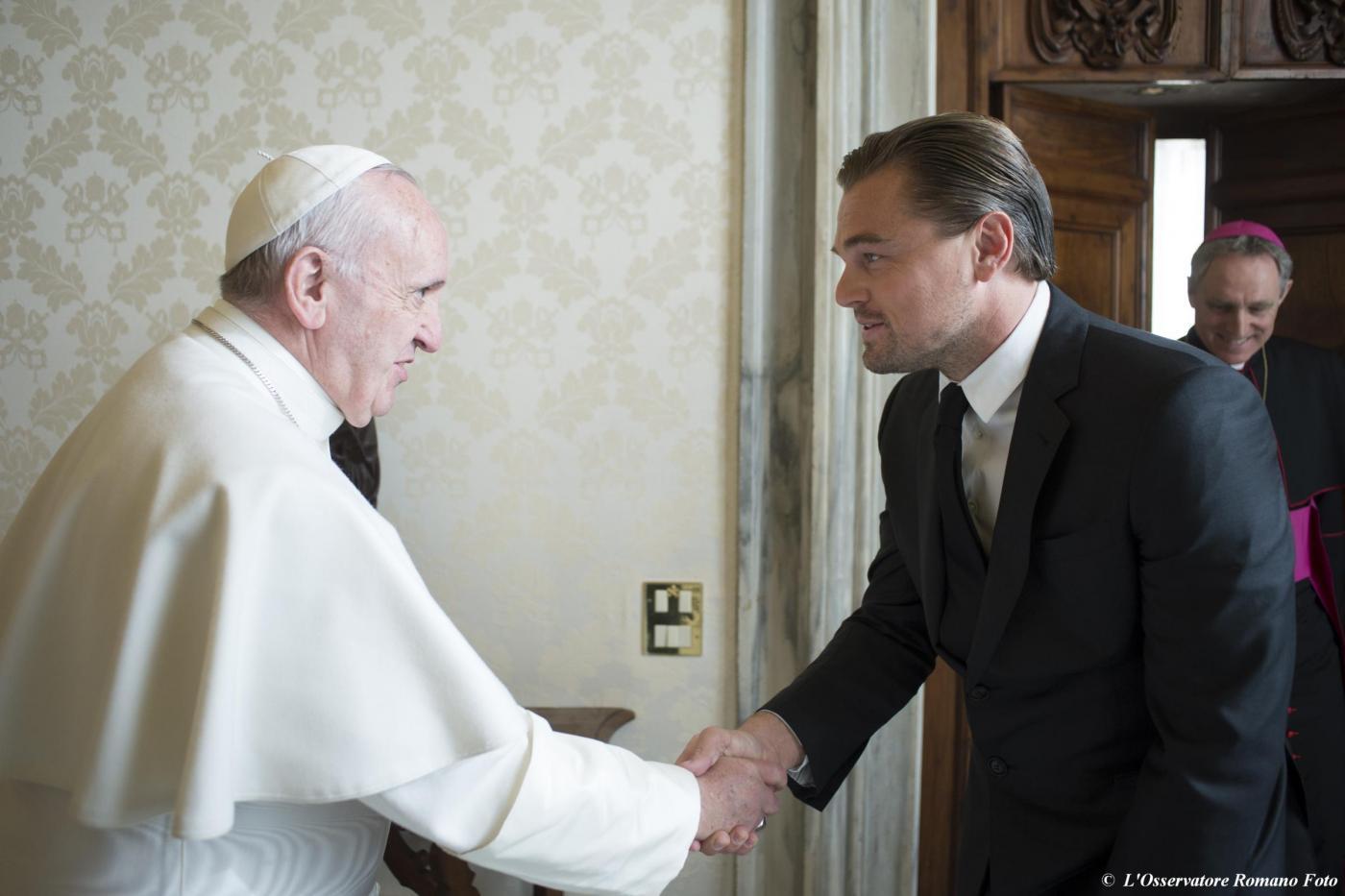 Leonardo DiCaprio da Papa Francesco FOTO incontro 3