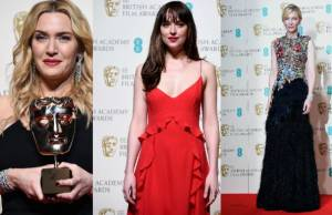Kate Winslet, Dakota Johnson, Cate Blanchett ai BAFTA: pagelle