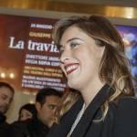 Maria Elena Boschi, rossetto rosso e look total black FOTO 5