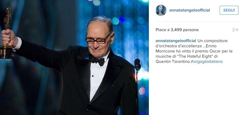 Anna Tatangelo, messaggio per Ennio Morricone su Instagram!