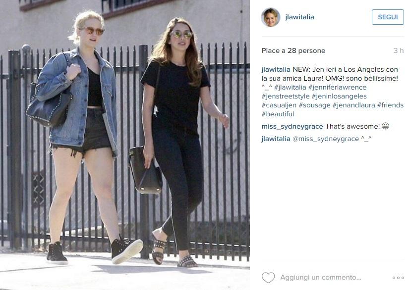 Jennifer Lawrence ingrassata? A giudicare dalle gambe... FOTO