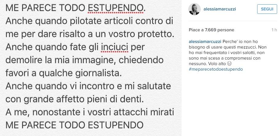 """Alessia Marcuzzi, sfogo su Instagram: """"Non ho bisogno di..."""""""