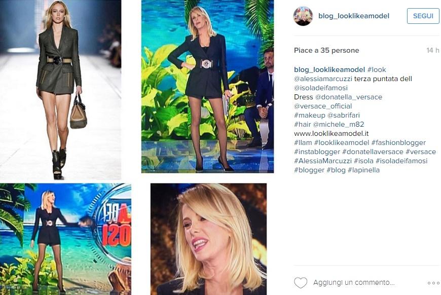Alessia Marcuzzi: abito cortissimo Versace e gambe in vista FOTO
