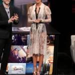 Belen Rodriguez, abito bianco trasparente a Che tempo che fa FOTO