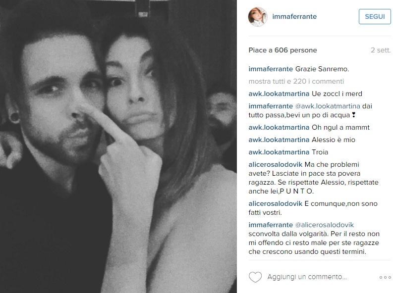 Alessio Bernabei - Imma Ferrante stanno insieme FOTO