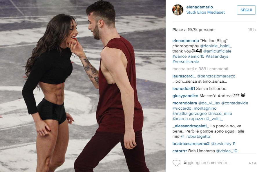Elena D'Amario: la FOTO choc della ballerina di Amici