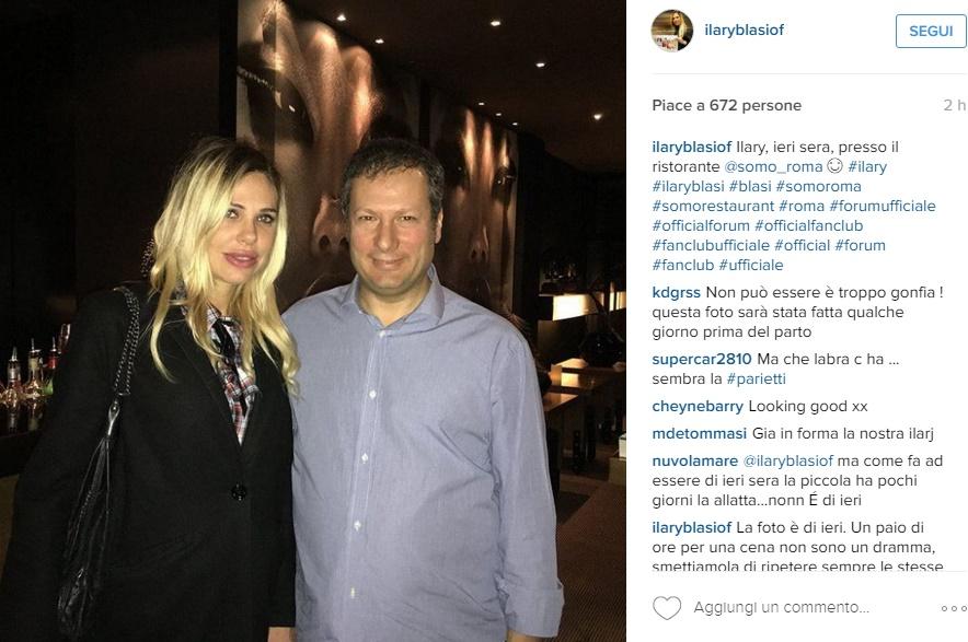 Ilary Blasi dopo il parto: FOTO su Instagram