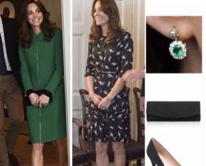 Kate Middleton, abito con rondini low cost: copia il look FOTO