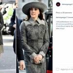 Kate Middleton, cappotto grigio e quell'omaggio a Diana... FOTO