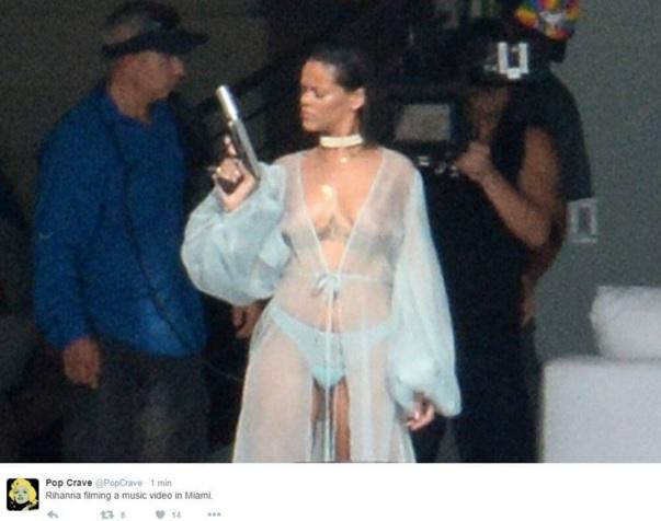 Rihanna sul set nuovo VIDEO: arma in mano3