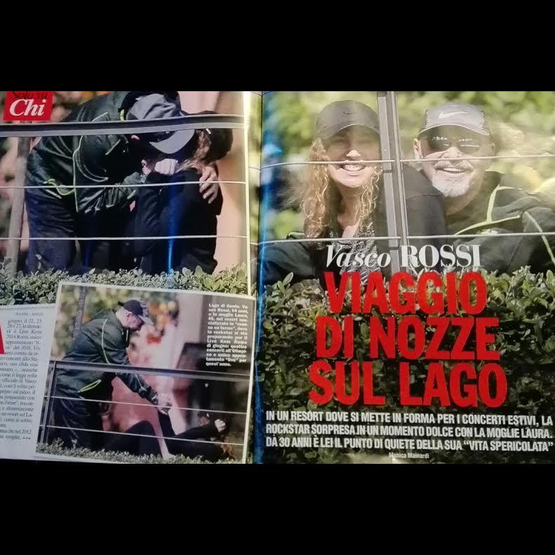 Vasco Rossi bacia la moglie Laura e intanto si allena...