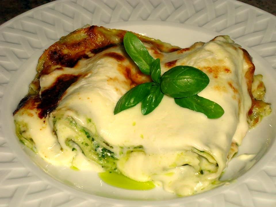 Lasagnette al Pesto e Crema di Patate