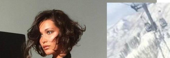 """Bella Hadid in topless e slip neri su Instagram: """"Scusa mamma""""22"""