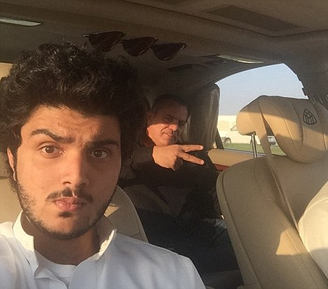 Le auto ricoperte d'oro del principe saudita2