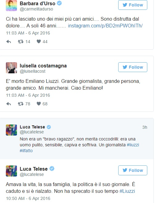 Emiliano Liuzzi è morto: giornalista del Fatto Quotidiano FOTO