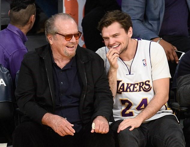 Jack Nicholson alla partita di basket col filgio Ray 3