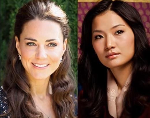 La Duchessa di Cambridge e la Regina del Bhutan: bellezze a confronto!
