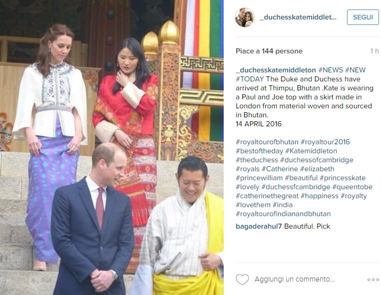 Kate Middleton-Jetsun Pema, l'incontro: look a confronto FOTO