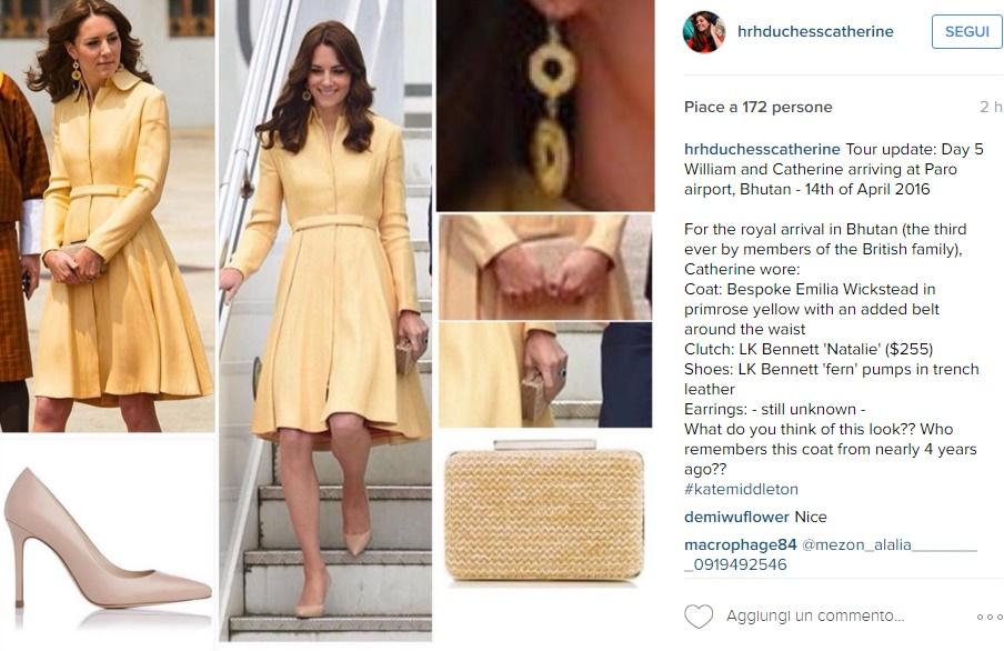 Kate Middleton news: cappotto giallo riciclato FOTO