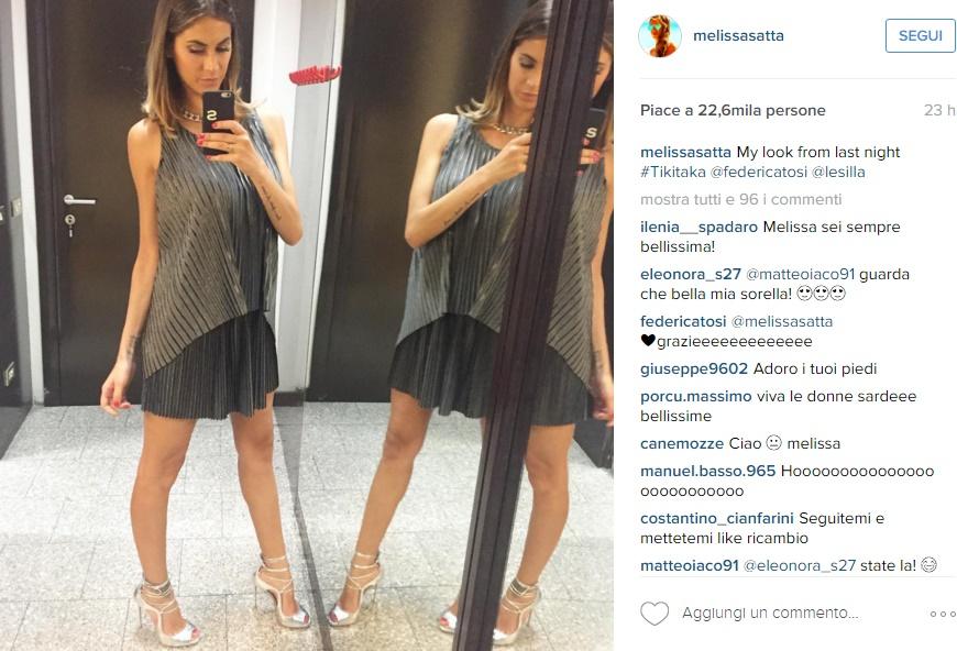 Melissa Satta, passione blunt cut: capelli nuovo look FOTO