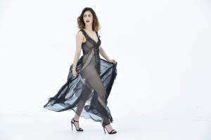 Miriam Leone, abito nero a Le Iene. Ecco chi è la stilista