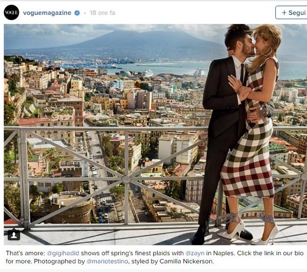 Zayn Malik e Gigi Hadid FOTO romantica a Napoli per Vogue
