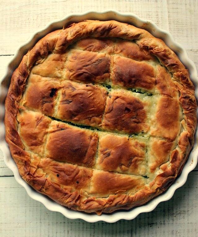 Spanakopita: Torta di Pasta Fillo con Spinaci e Feta   VIDEO