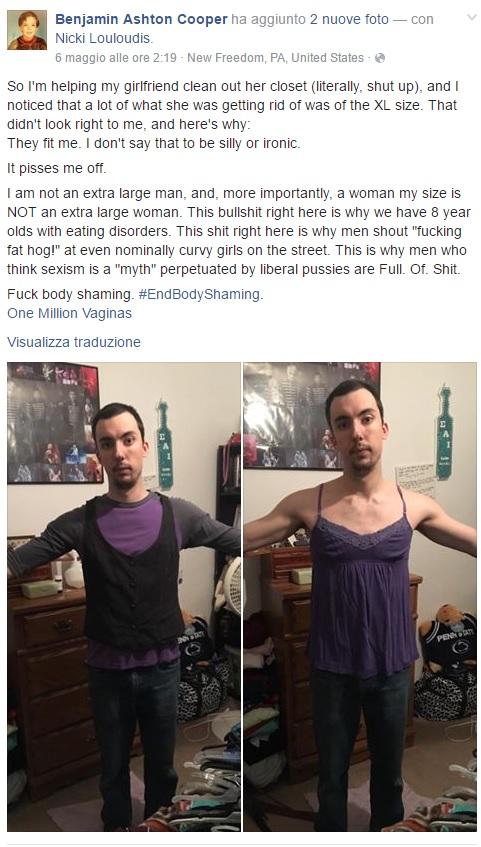 Taglie donne XL più grandi di quelle degli uomini lo sapevate3