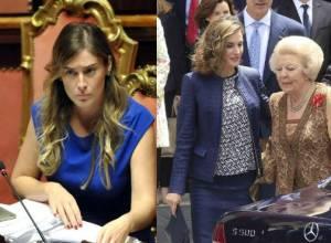 Maria Elena Boschi, Letizia Ortiz: passione blu FOTO