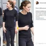 Kate Middleton casual: skinny aderenti e sneakers FOTO