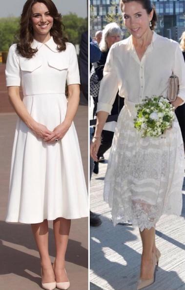 Kate Middleton, Mary di Danimarca stessi look: chi copia ? FOTO