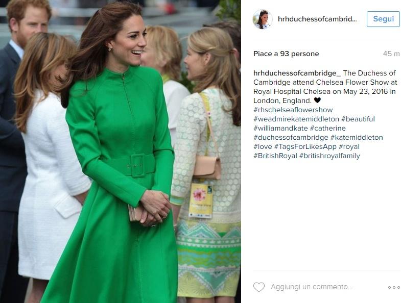 Kate Middleton super chic: cappotto verde riciclato FOTO