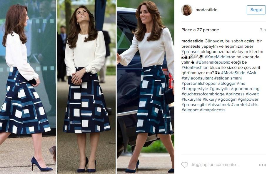 Kate Middleton, look chic: gonna Banana Republic e blusa FOTO
