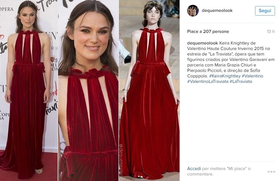 Keira Knightley a Roma: abito rosso firmato Valentino FOTO