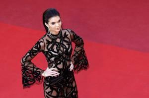 Kendall Jenner a Cannes: abito trasparente firmato Cavalli FOTO 4