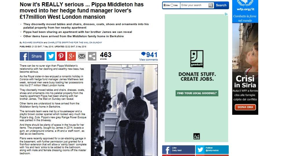 """Kate Middleton, sorella Pippa si sposa? """"Convive con..."""""""