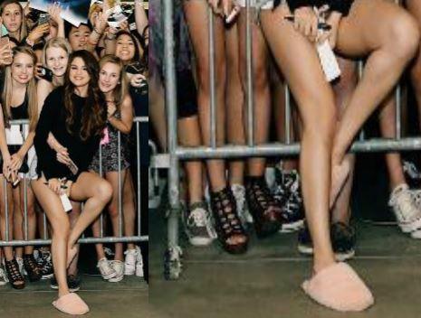 Selena Gomez, caduta di stile: ciabatte pelose tra i fan FOTO