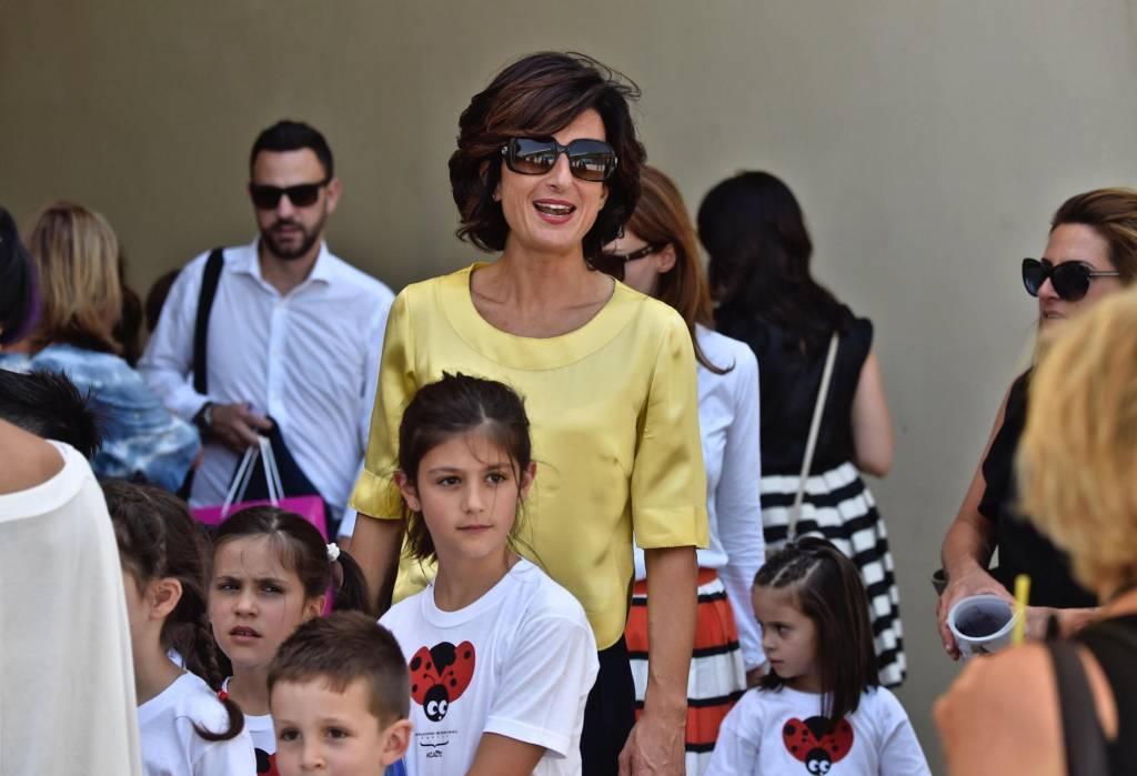 Matteo Renzi, moglie Agnese a Pitti: sceglie giallo FOTO