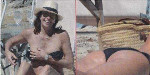 Cristina Parodi a Formentera topless e lato B in forma a 51 anni