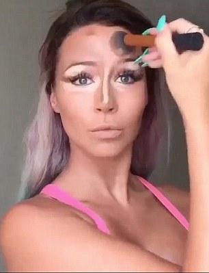 Volto trasformato in farfalla, VIDEO make up artist CC Clarke11