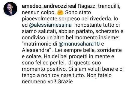 """Amedeo Andreozzi e Alessia Messina: """"Rivederla? Non mi ha..."""""""