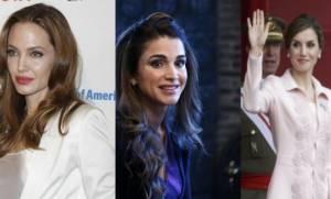 Angelina Jolie, Letizia Ortiz, Rania di Giordania: look FOTO