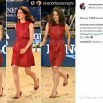 Charlotte Casiraghi, abito Gucci rosso fuoco e tacchi FOTO
