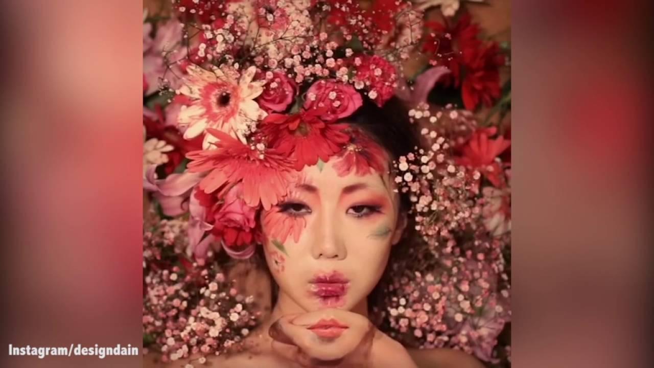 Make up artist illusionista, riproduce occhi e bocca su mani VIDEO