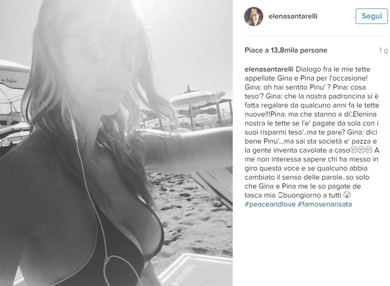 Elena Santarelli rifatta grazie a Fabrizio Corona? Lei risponde così