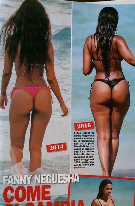 Fanny Neguesha, cellulite in vista: fisico... non al top FOTO
