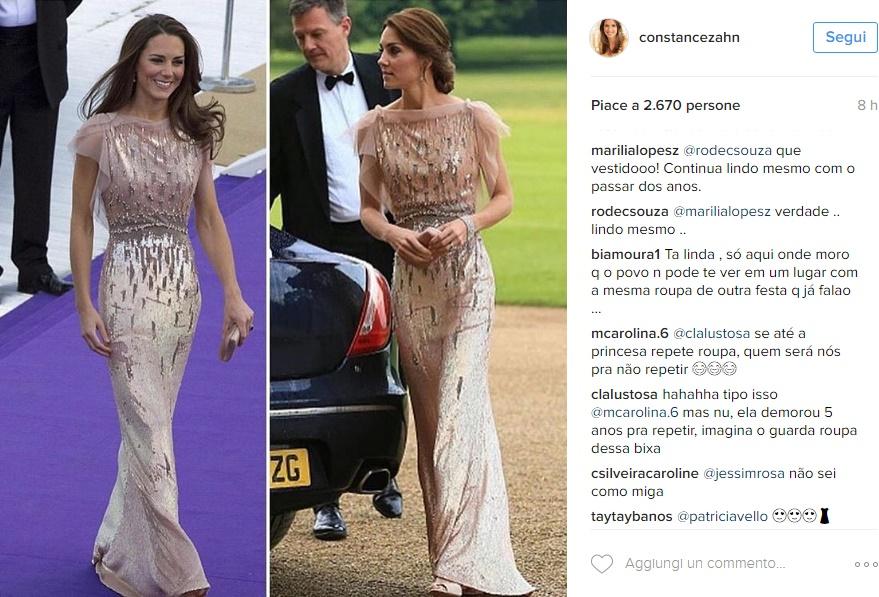 Kate Middleton, meravigliosa in abito lungo Jenny Packham FOTO