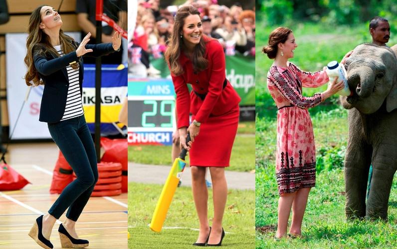Kate Middleton, la prova che può fare tutto con i tacchi FOTO